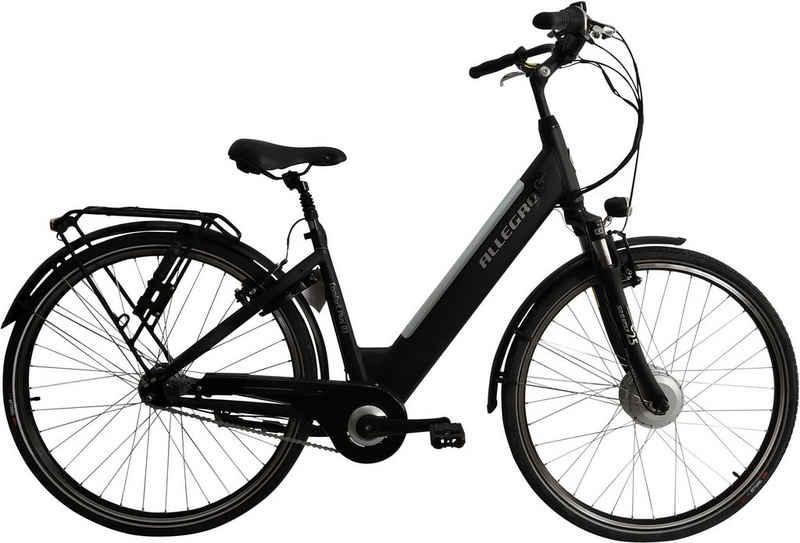 ALLEGRO E-Bike »Comfort Plus 03 Black«, 7 Gang Shimano, Nabenschaltung, Frontmotor 250 W