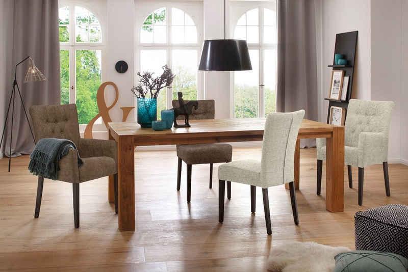 Home affaire Polsterstuhl »Queen« (Set, 2 Stück), Esszimmerstuhl mit Knopfheftung, 2er, 4er oder 6er Set