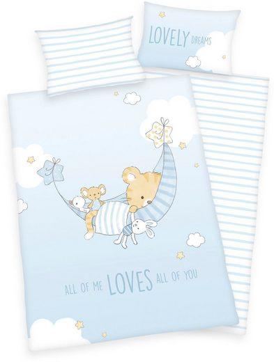 Babybettwäsche »Little Tiger«, Baby Best, mit niedlichem Tiger-Motiv und Schriftzug