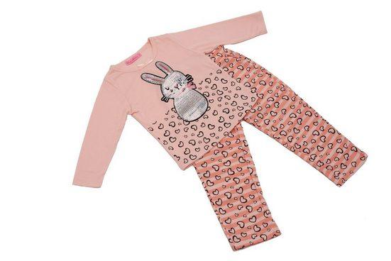 Egomaxx Schlafanzug »3160« Mädchen Schlafanzug Hase