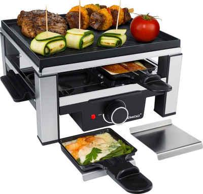 Steba Raclette RC 104, 4 Raclettepfännchen, 900 W