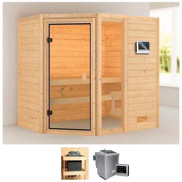 Saunen und Zubehör - KARIBU Sauna »Josie«, 196x146x187 cm, 9 kW Bio Ofen mit ext. Steuerung  - Onlineshop OTTO