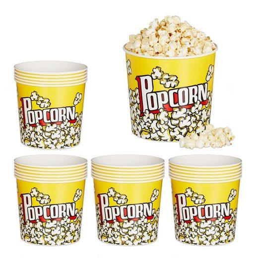 relaxdays Snackschale »24 x Popcorn Eimer wiederverwendbar«, PP