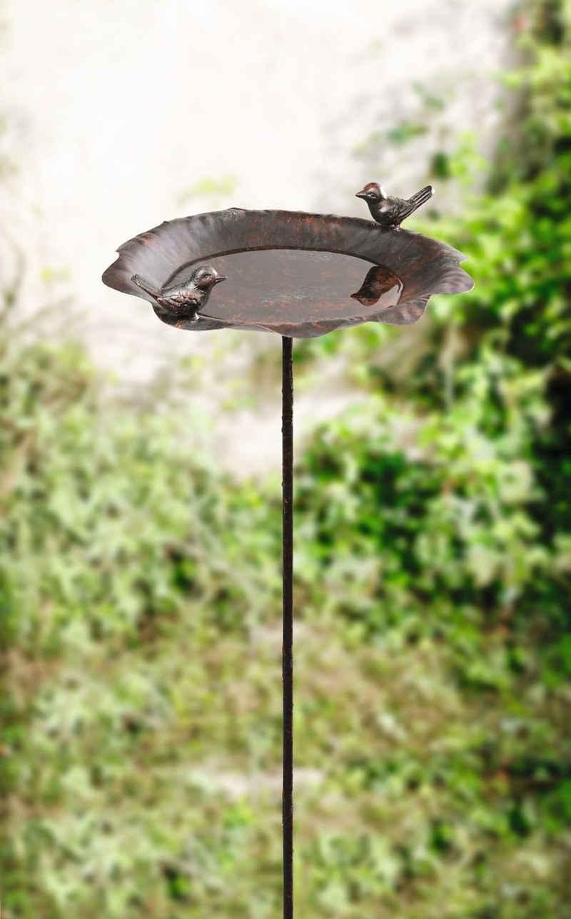 HomeLiving Vogeltränke »Rostoptik«