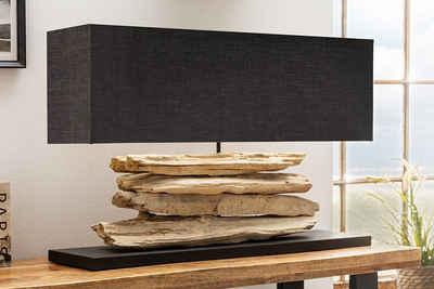 riess-ambiente Tischleuchte »RIVERINE 80cm schwarz / natur«, Tischlampe · Massivholz · Nachttischlampe · mit Lampenschirm · Wohnzimmer