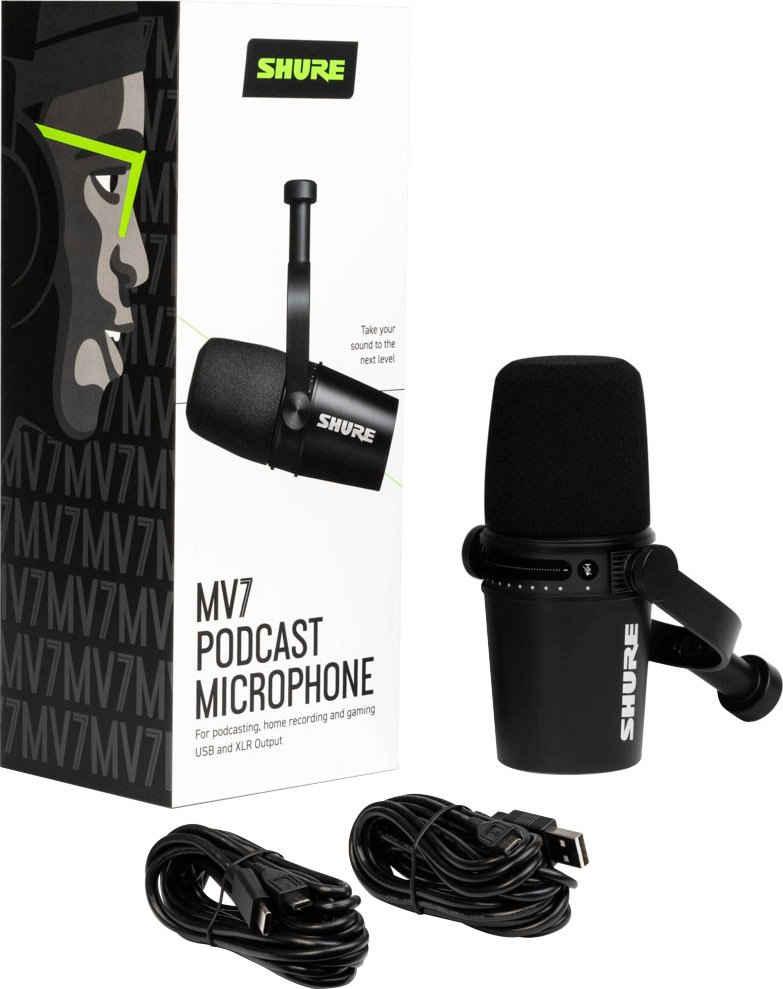 Shure Mikrofon »MV7 Dynamisches Podcast Mikrofon«