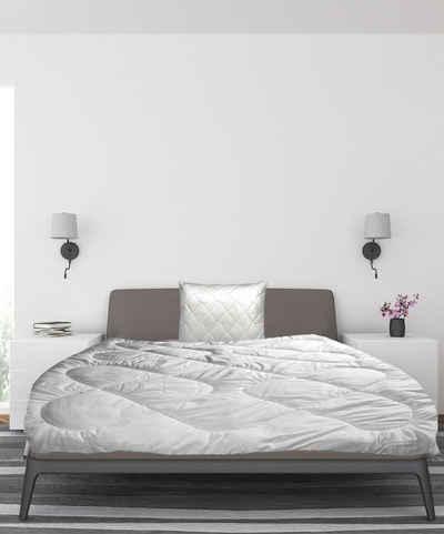 Bettdecke + Kopfkissen, »Mikrofaser Bettdeckenset Bettdecke und Kissen Set Steppdecke Ganzjahresdecke mit Kissen 2-teilig oder 3-teilig Bettdecken VERSCHIEDENE GRÖßEN UND FÜLLUNGEN + Kopfkissen 80 x 80cm Füllung 900Gr«, Welt der Träume, Füllung: 100% Polyester, Ganzjahresbettdecke