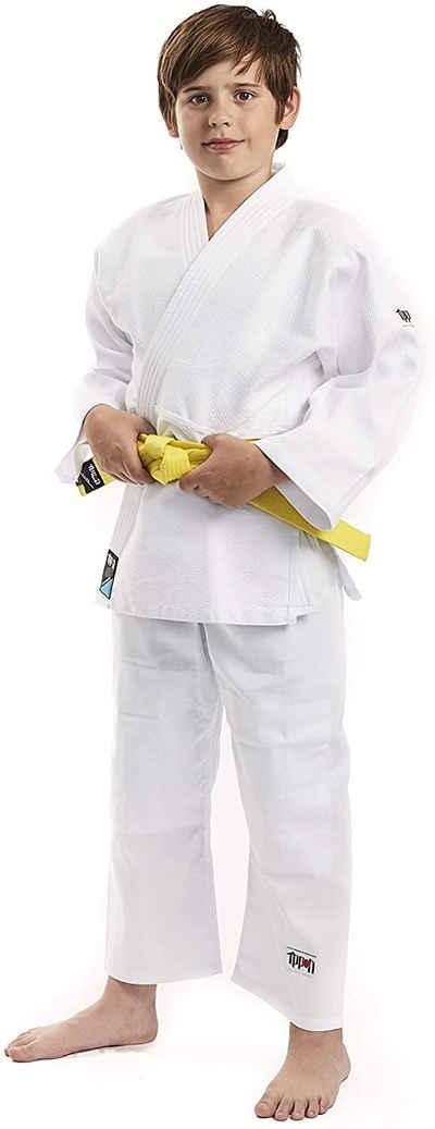 IPPON GEAR Judoanzug »Future«, [Judoanzug (Jacke & Hose) für Kinder (5 - 10 Jahre) inkl. Gürtel, Gr. 160, Hochwertiges reißfestes Gewebe] - weiß