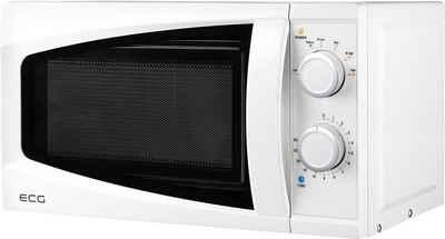 ECG Mikrowelle ECG MTM 2070 W (20/7/WS), Mikrowelle, 20,00 l, 6 Leistungsstufen, Auftaufunktion