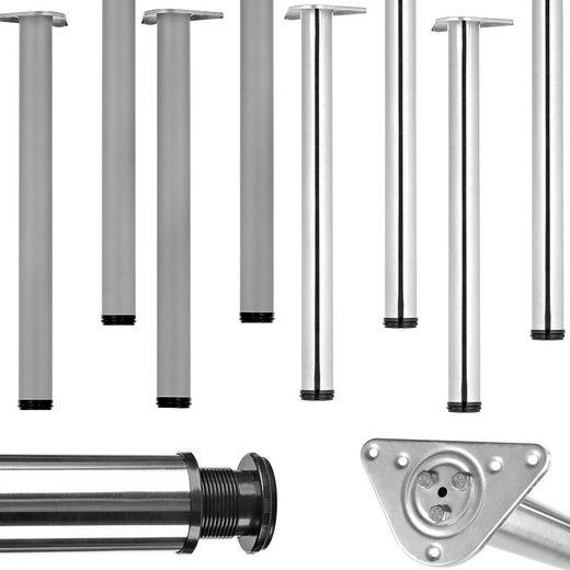 Mucola Möbelfuß »Hairpins Tischgestellt Tisch Untergestell«, (4-St), höhenverstellbar