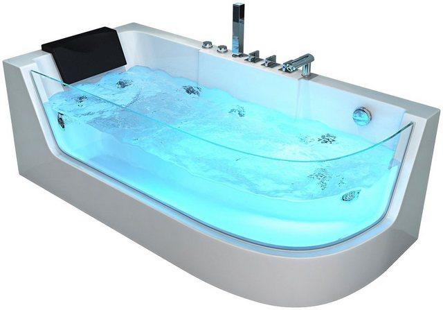 Badewannen und Whirlpools - HOME DELUXE Whirlpool Badewanne »Carica«, (4 tlg), B T H 170 80 59 cm  - Onlineshop OTTO