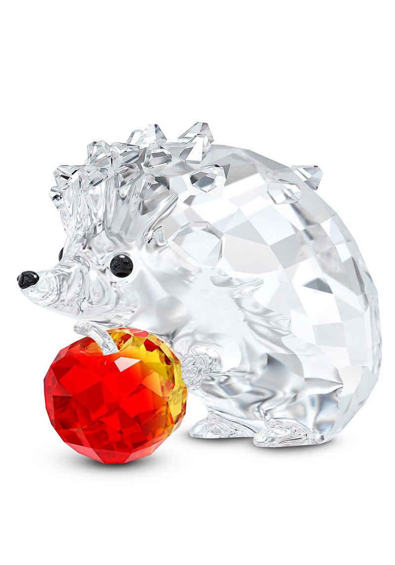 Swarovski Dekofigur »Igel mit Apfel, 5532203« (1 Stück), Swarovski® Kristall mit schwarzem Emaille