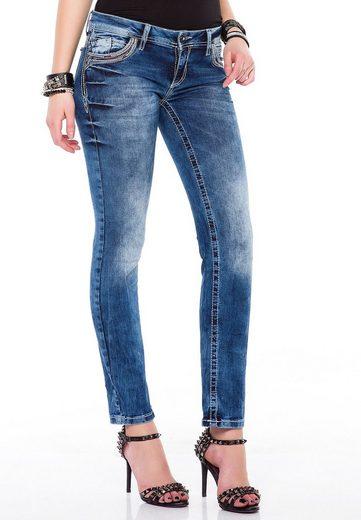 Cipo & Baxx Slim-fit-Jeans mit schmeichelnder Waschung in Skinny-Fit