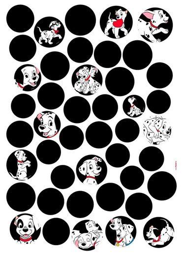 KOMAR Wandtattoo »101 Dalmatiner Dots«, selbsthaftend, rückstandslos abziehbar