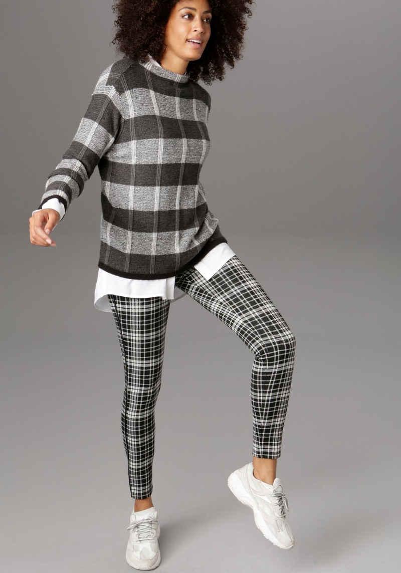 Aniston SELECTED Leggings im modischen Jacquard