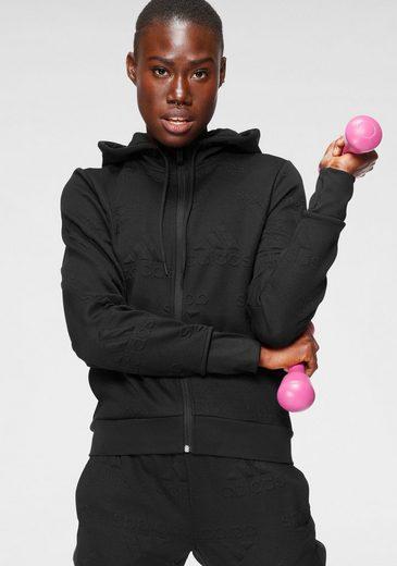 adidas Performance Trainingsjacke »AEROREADY JACQUARD LOGO KAPUZENJACKE«