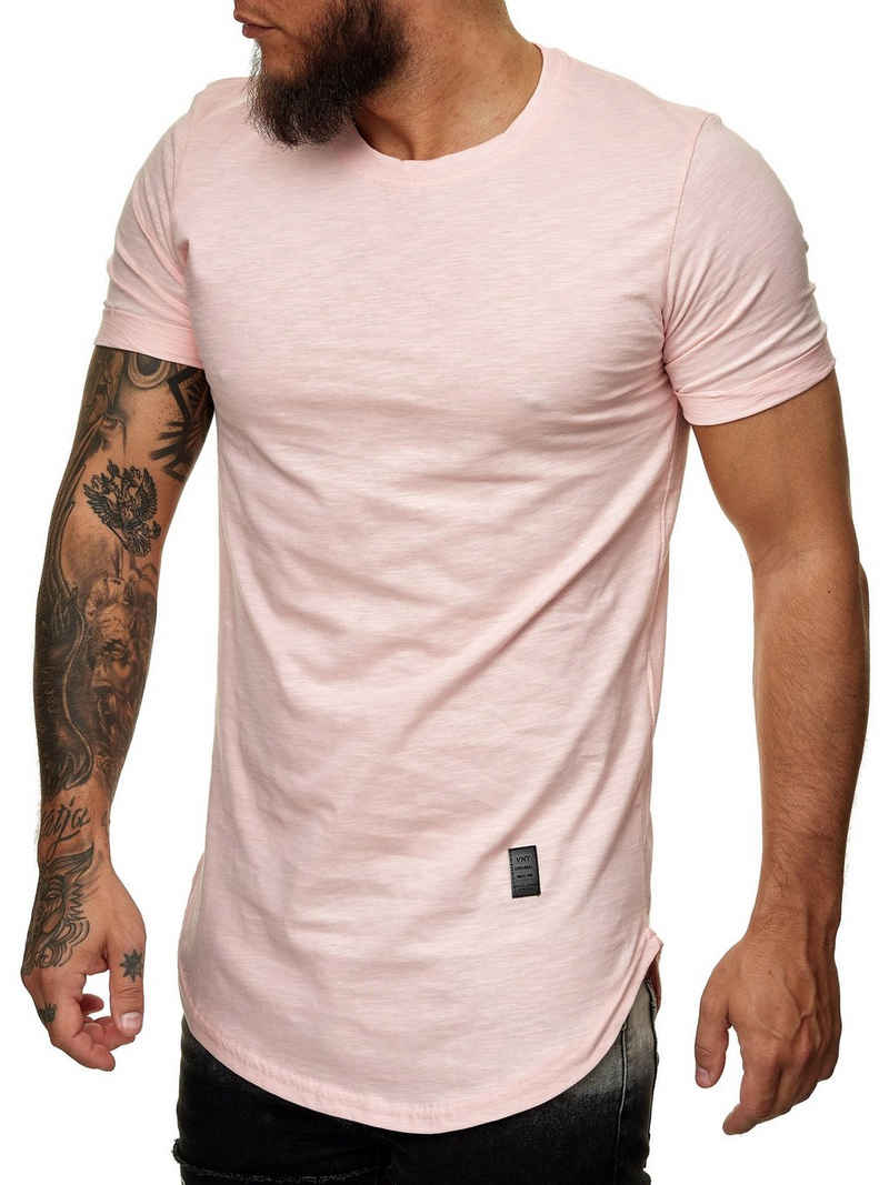 Code47 T-Shirt »Oversize Herren Vintage T-Shirt Basic Shirt Round« (1-tlg)