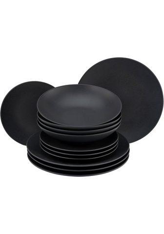 CreaTable Tafelservice »minkštas Touch Black« (1...