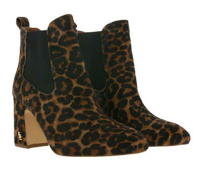 Kurt Geiger »KURT GEIGER RAYLAN Echtleder-Stiefelette klassische Damen Ankle-Boots Ausgeh-Stiefel mit Animal-Muster Braun« Stiefelette