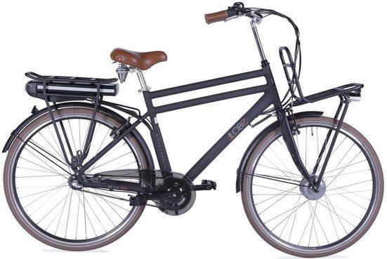 LLobe E-Bike »Rosendaal Gent 130864«, 3 Gang, Nabenschaltung, Frontmotor 250 W, Gepäckträger vorne