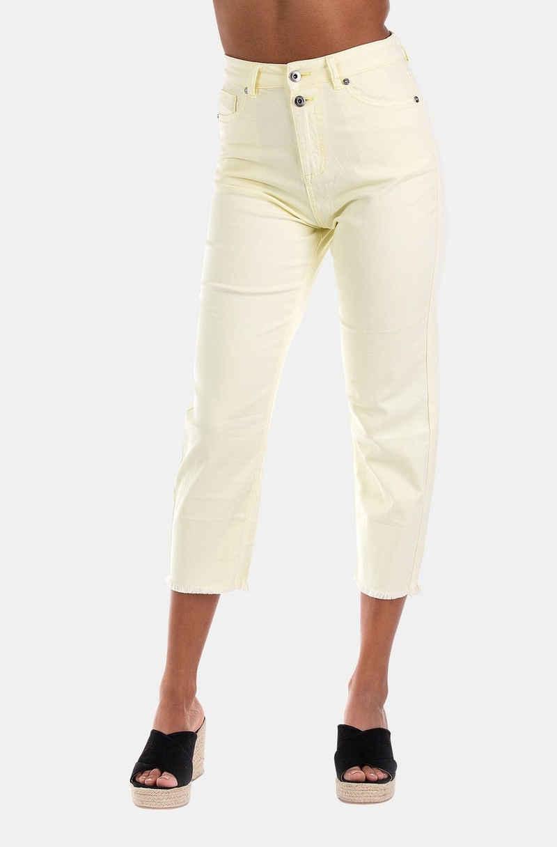 Blue Monkey High-waist-Jeans »Kayla« (1-tlg)