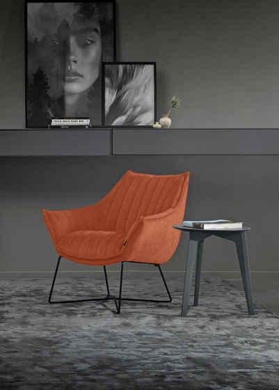 furninova Loungesessel »Egon Quilt«, bequemer Loungesessel mit attraktiven Dekornähten, im skandinavischen Design