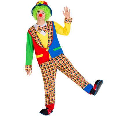 tectake Clown-Kostüm »Herrenkostüm Clown Alfredo«