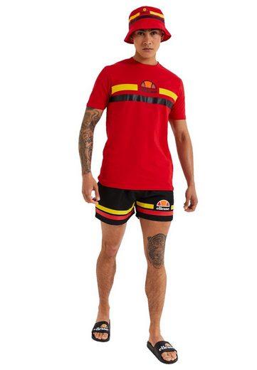 Ellesse Shorts »Ellesse Badehose Herren TELLO SWIM SHORT Black Red Schwarz«