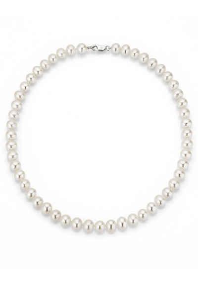Firetti Perlenkette »rhodiniert, massiv, rund, stilvolles Design«, mit Süßwasserzuchtperlen, Made in Germany