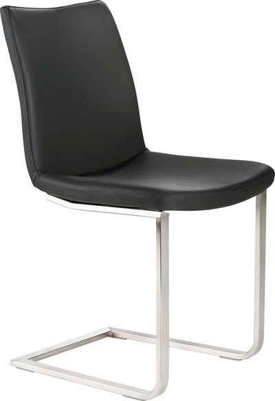 Mayer Sitzmöbel Freischwinger »Schwingstuhl myLANUS«, mit Bezug aus Leder