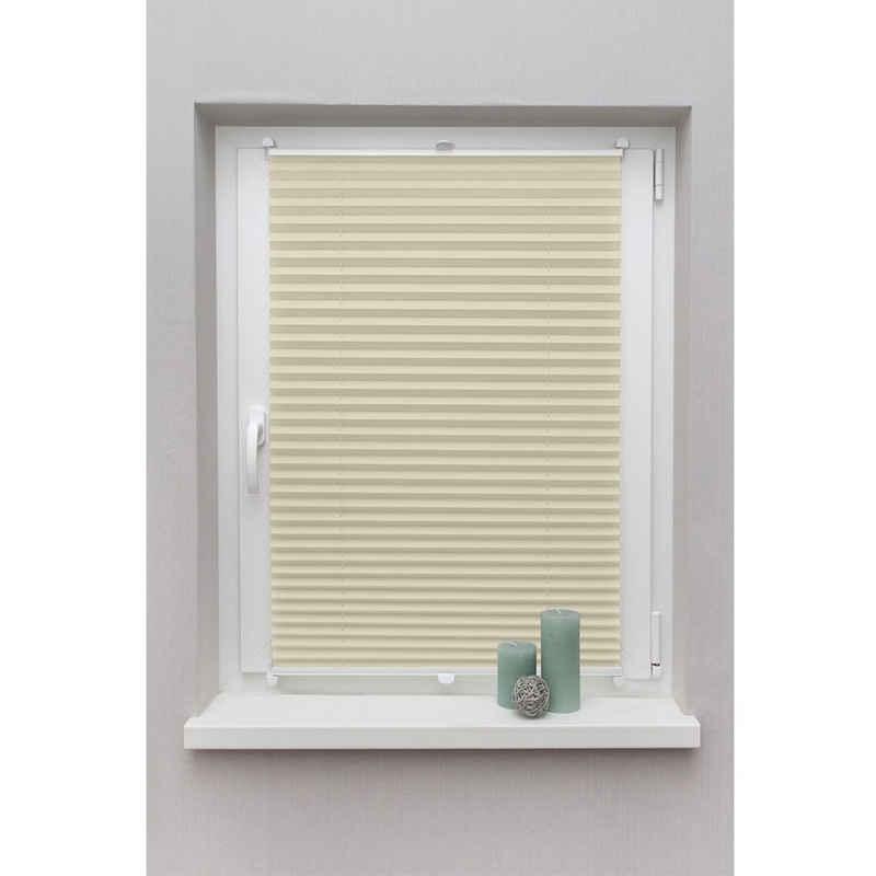 Plissee »ohne Bohren Faltstore Fensterrollo Jalousie Faltrollo Plisee Klemmfix«, i@home, Verdunkelung, Blickdicht, Energieeffizient, Klemm-Montage, Mit Aluminiumschiene, Sonnenschutz