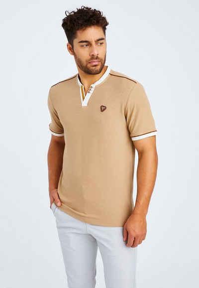 Leif Nelson T-Shirt »Herren T-Shirt V-Ausschnitt LN-55775«