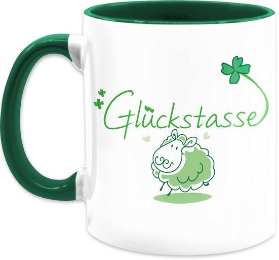 Shirtracer Tasse »Glückstasse - Statement Tasse - Tasse zweifarbig«, Keramik