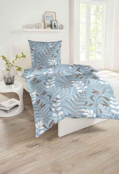 Bettwäsche »Minna«, Schiesser, mit Blättermuster