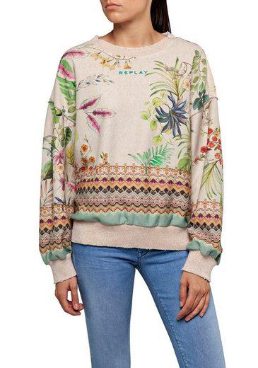 Replay Sweatshirt mit Alloverprint