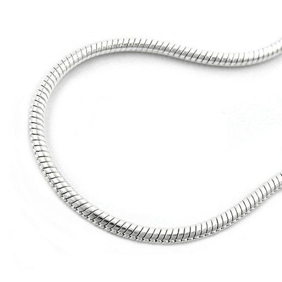 Kette 4mm Schlange flach glänzend Silber 925 45cm