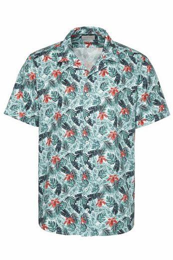 Schlussverkauf bugatti Kurzarmhemd mit floralem All-Over-Print