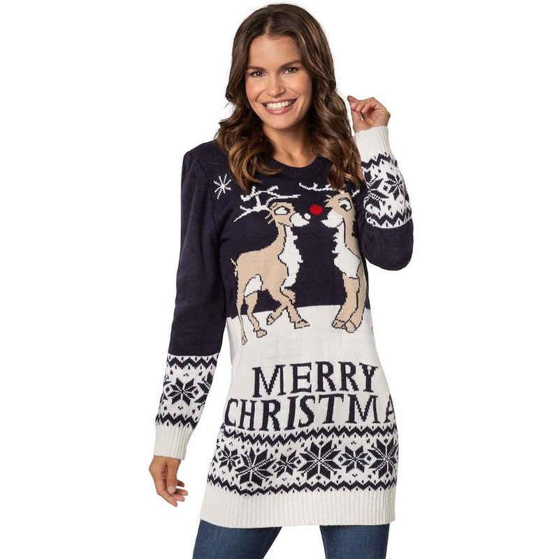 dressforfun Norwegerpullover »Weihnachtspullover Merry Christmas für Frauen« (1-tlg)