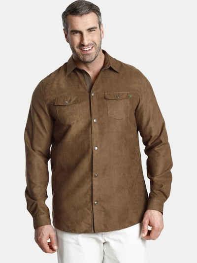 Charles Colby Langarmhemd »DUKE ETHAN« tragbar auch als leichte Jacke