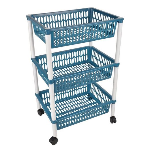 dynamic24 Küchenwagen, Küchentrolley Küchenregal Obstregal Küchenschrank Rollwagen Küche