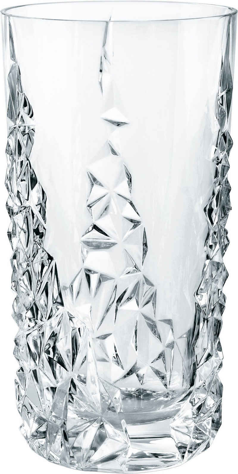 Nachtmann Longdrinkglas »Sculpture«, Kristallglas, 420 ml, 6-teilig