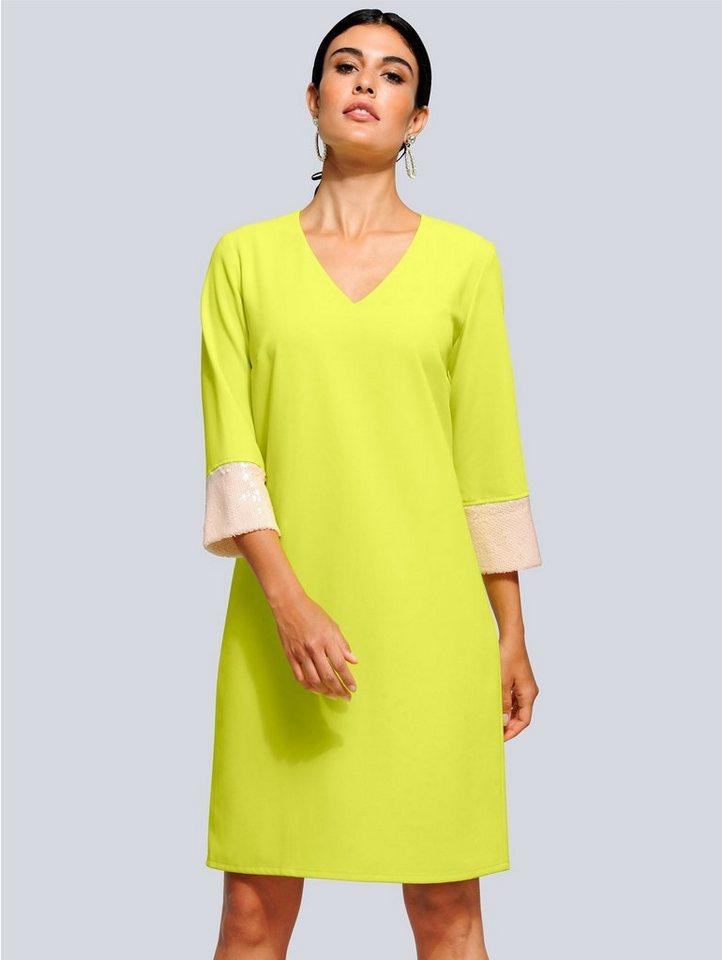 Festtagsmode - Alba Moda Kleid mit modischen Pailletten › grün  - Onlineshop OTTO
