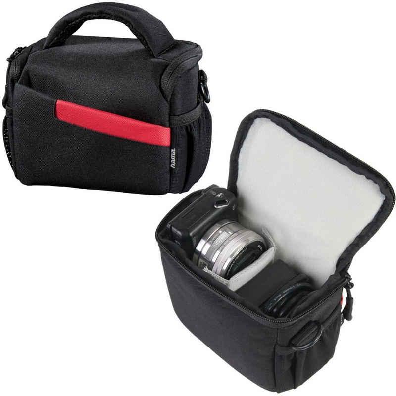 Hama Kameratasche »Kameratasche Bahamas 100 Schwarz«, Inneneinteilung, Schultergurt, Tragegriff, Seitentaschen, passend für DSLR SLR Systemkamera Camcorder