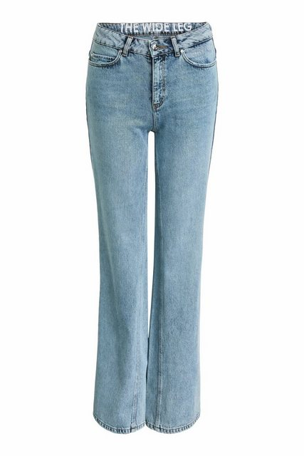 Hosen - Oui Straight Jeans »Denim THE WIDE LEG in Flared Fit« Ohne Details › blau  - Onlineshop OTTO