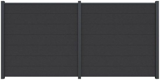 Kiehn-Holz Sichtschutzelement, (Set), LxH: 360x180 cm, Pfosten zum Aufschrauben