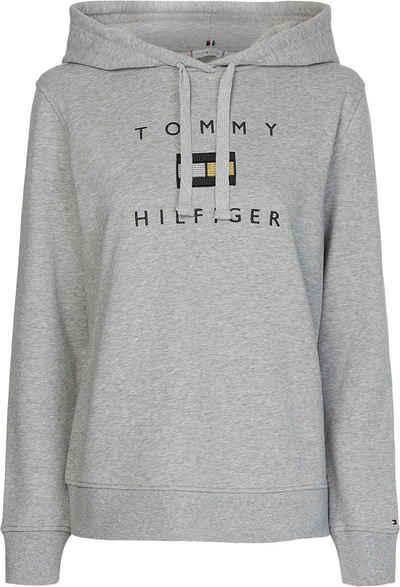 Tommy Hilfiger Hoodie »REGULAR LUREX HOODIE« mit gesticktem Tommy Hilfiger Logo-Schriftzug & Flag