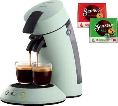 Senseo Kaffeepadmaschine SENSEO Original Plus CSA210/20, inkl. Gratis-Zugaben im Wert von 5,- UVP