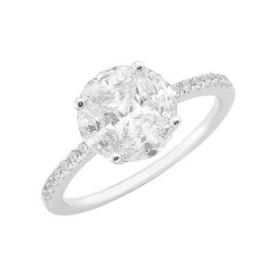 Smart Jewel Verlobungsring »mit funkelnden Zirkonia Steinen, Antragsring, Silber 925«