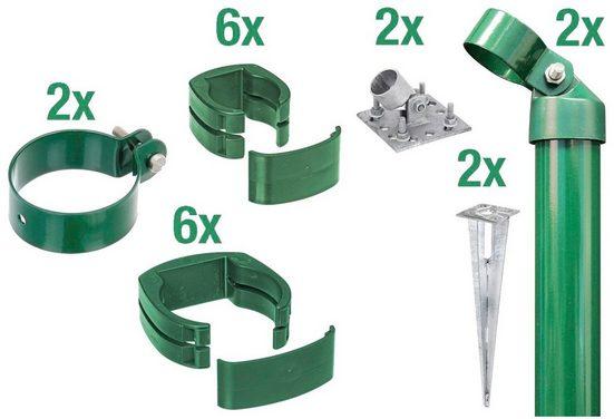 GAH Alberts Zaunpfosten »Verbinder Fix-Clip Pro®«, (Set), 2-seitig für Ø 6x153 cm, zum Aufschrauben