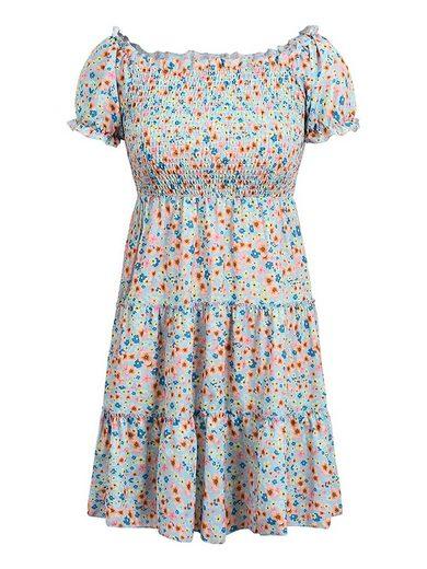 LAPA Strandkleid »LAPA Blumenkleid, Kleid mit eckigem Ausschnitt, Modekleid«
